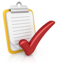 A checklist and tick