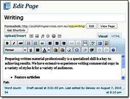 A WYSIWYG visual editor tool