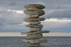 A well-balanced stone tower